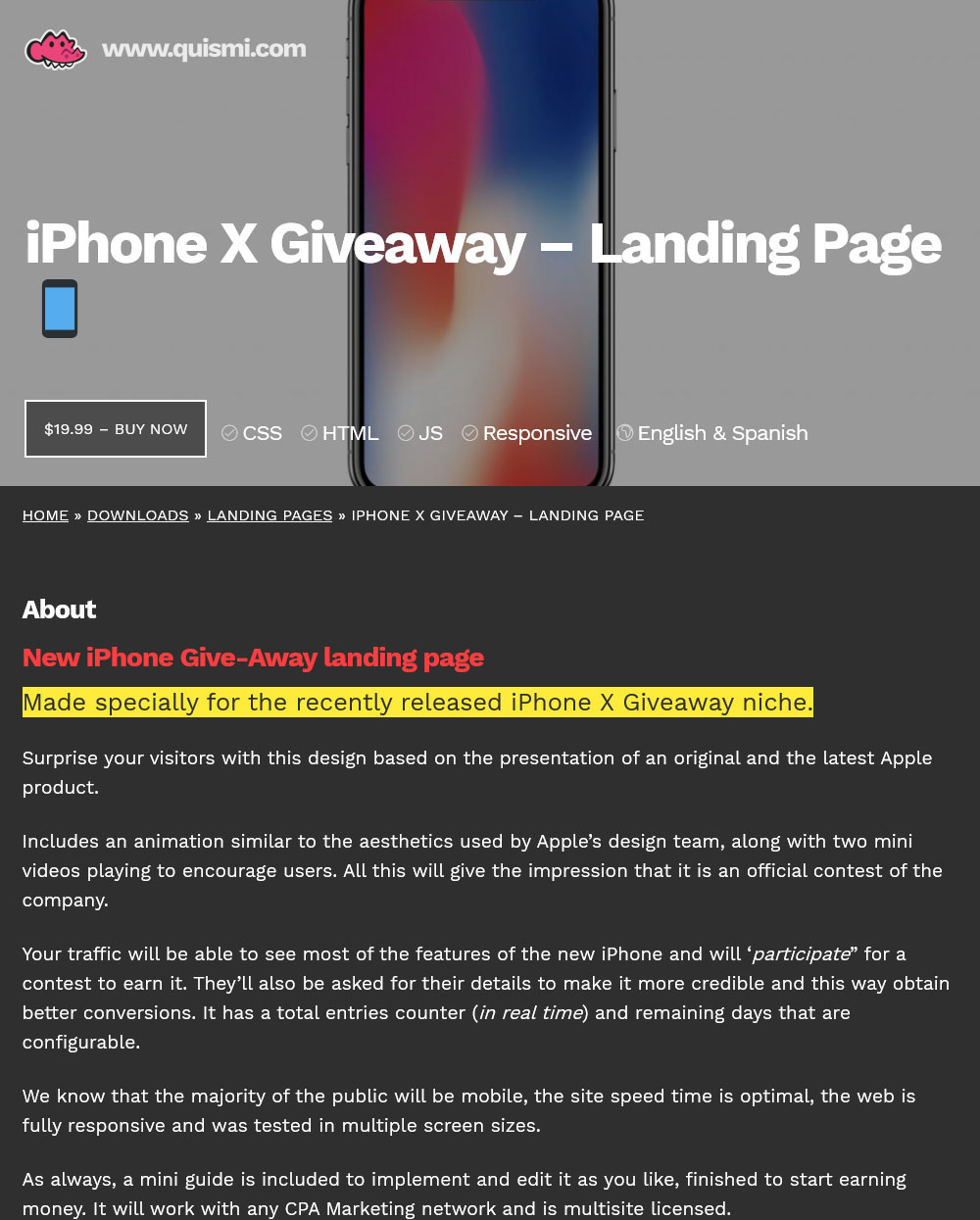 iPhone X Giveaway Landing Page | Top Affiliate Marketing Forum