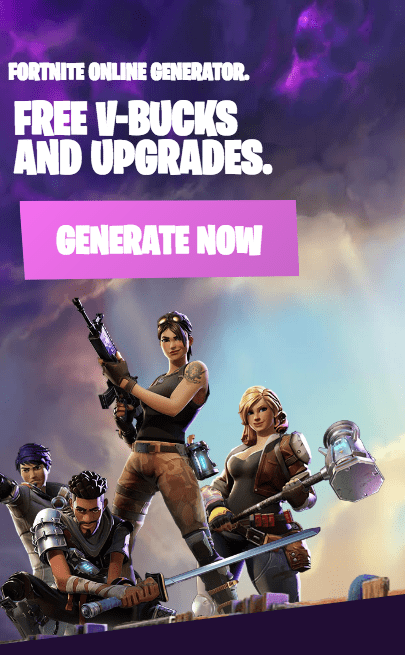 CPA Landing Page - Fortnite V-Bucks and Packs Free Generator - quismi phone demo
